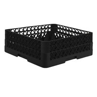 Vollrath TR7CA Traex® Full-Size Black 36-Compartment 6 3/8 inch Glass Rack with Open Rack Extender On Top