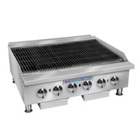 Bakers Pride BPHCB-2448i Natural Gas 48 inch Medium-Duty Radiant Charbroiler - 160,000 BTU