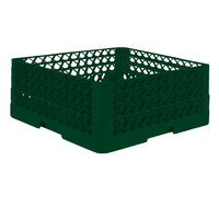 Vollrath TR7CCA Traex® Full-Size Green 36-Compartment 7 7/8 inch Glass Rack with Open Rack Extender On Top