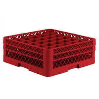 Vollrath TR7CC Traex® Full-Size Red 36-Compartment 6 3/8 inch Glass Rack