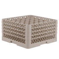 Vollrath TR13CCCC Traex® Full-Size Beige 36-Compartment 6 3/4 inch Glass Rack