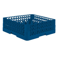 Vollrath TR7CA Traex® Full-Size Royal Blue 36-Compartment 6 3/8 inch Glass Rack with Open Rack Extender On Top