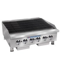 Bakers Pride BPHCRB-2436i 36 inch Heavy Duty Glo-Stone Charbroiler - 120,000 BTU
