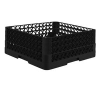 Vollrath TR7CCA Traex® Full-Size Black 36-Compartment 7 7/8 inch Glass Rack with Open Rack Extender On Top