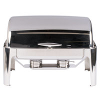 Vollrath T3500 8 Qt. Mirror Finish Stainless Steel Roll Top Chafer