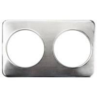 2 Hole Steam Table Adapter Plate - 8 3/8 inch