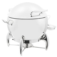 Vollrath T3633 D-Lux 11 Qt. Round Stainless Steel Soup Chafer