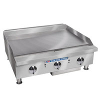 Bakers Pride BPHMG-2424i Liquid Propane 24 inch Heavy Duty Manual Control Countertop Griddle - 80,000 BTU