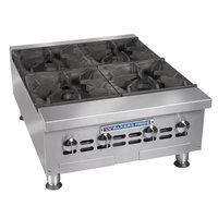 Bakers Pride BPHHP-424i Liquid Propane 24 inch Four Burner Heavy Duty Hot Plate - 120,000 BTU