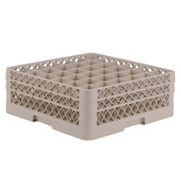 Vollrath TR7CC Traex® Full-Size Beige 36-Compartment 6 3/8 inch Glass Rack