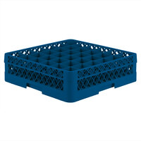 Vollrath TR7A Traex Full-Size Royal Blue 36-Compartment 4 13/16 inch Glass Rack with Open Rack Extender On Top