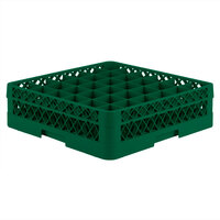 Vollrath TR7A Traex Full-Size Green 36-Compartment 4 13/16 inch Glass Rack with Open Rack Extender On Top