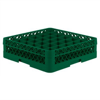 Vollrath TR7C Traex® Full-Size Green 36-Compartment 4 13/16 inch Glass Rack