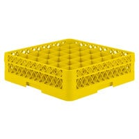 Vollrath TR7A Traex Full-Size Yellow 36-Compartment 4 13/16 inch Glass Rack with Open Rack Extender On Top