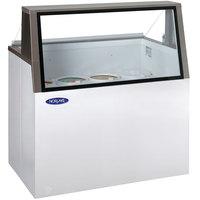 Nor-Lake HF100-WWG/0L Nova 48 inch Low Glass Ice Cream Dipping Cabinet