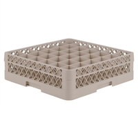 Vollrath TR7A Traex Full-Size Beige 36-Compartment 4 13/16 inch Glass Rack with Open Rack Extender On Top