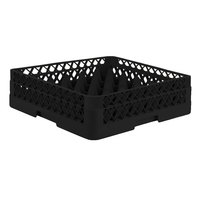 Vollrath TR7A Traex® Full-Size Black 36-Compartment 4 13/16 inch Glass Rack with Open Rack Extender On Top