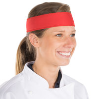 Red Customizable High-Performance Fabric Headband