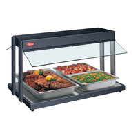 Hatco GRBW-36 36 inch Glo-Ray Black Buffet Warmer with Infinite Controls - 1530W