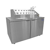 Nor-Lake ZF152SMS/0 54 inch Ice Cream Topping Cabinet with Refrigerated Rail and Freezer Base