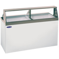 Nor-Lake HF160-WWG/0 Nova 69 inch Straight Glass Ice Cream Dipping Cabinet