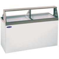 Nor-Lake HF160-WWG/0 Nova 69 inch Straight Glass Ice Cream Dipping Cabinet