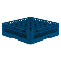 Vollrath TR7C Traex® Full-Size Royal Blue 36-Compartment 4 13/16 inch Glass Rack