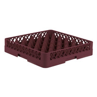 Vollrath TR7 Traex® Full-Size Burgundy 36-Compartment 3 1/4 inch Glass Rack
