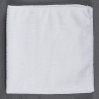 16 inch x 16 inch White Microfiber Cleaning Cloth - 12/Pack