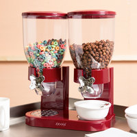 Zevro KCH-06125 Red 4 Liter Double Canister Dry Food Dispenser
