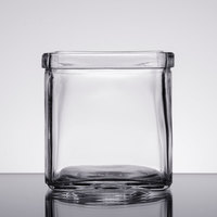 American Metalcraft GJ8 8 oz. Square Glass Condiment Jar - 12/Case