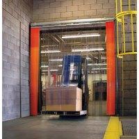 Curtron QSD-8-50-UM-48X96-RIB 48 inchW x 96 inchH Transparent Clear PVC Double Ribbed Strip Door