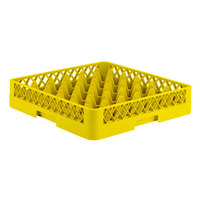 Vollrath TR7 Traex® Full-Size Yellow 36-Compartment 3 1/4 inch Glass Rack