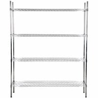 Regency 18 inch x 60 inch NSF Chrome Shelf Kit with 74 inch Posts