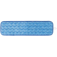 18 inch Blue Microfiber Wet Velcro® Scrubber Flat Mop Pad
