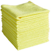 Knuckle Buster MFMP12YL 12 inch x 12 inch Yellow Microfiber Cleaning Cloth - 12/Pack
