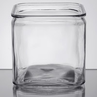 American Metalcraft GJ72 2.25 Qt. Square Glass Condiment Jar
