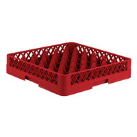 Vollrath TR7 Traex® Full-Size Red 36-Compartment 3 1/4 inch Glass Rack