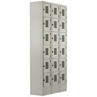 Winholt WL-618/15 Triple Column Eighteen Door Locker with Perforated Doors - 36 inch x 15 inch