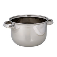 American Metalcraft SSMS10 3.68 Qt. Stainless Steel Mussel Serving Bowl with Lid
