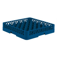 Vollrath TR7 Traex® Full-Size Royal Blue 36-Compartment 3 1/4 inch Glass Rack