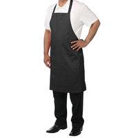 Chef Revival 601NP-BK Customizable Black Bib Apron - 34 inchL x 28 inchW