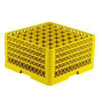 Vollrath TR9EEEE Traex® Full-Size Yellow 49-Compartment 9 7/16 inch Glass Rack