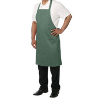 Chef Revival 601NP-HG Customizable Hunter Green Bib Apron - 34 inchL x 28 inchW
