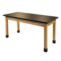 National Public Seating SLT2460 24 inch x 60 inch Science Lab Table - 30 inch Height
