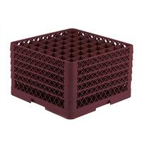 Vollrath TR9EEEEE Traex® Full-Size Burgundy 49-Compartment 11 inch Glass Rack