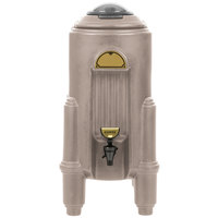 Cambro CSR5417 Camserver 5 Gallon Dark Taupe Insulated Beverage Dispenser