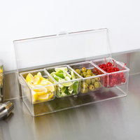American Metalcraft FCS16 4-Compartment Condiment Holder