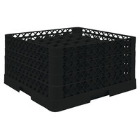 Vollrath TR9EEEA Traex® Full-Size Black 49-Compartment 9 7/16 inch Glass Rack with Open Rack Extender On Top