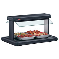 Hatco GR2BW-54 54 inch Glo-Ray Black Designer Buffet Warmer with Black Insets - 120/208V, 2290W